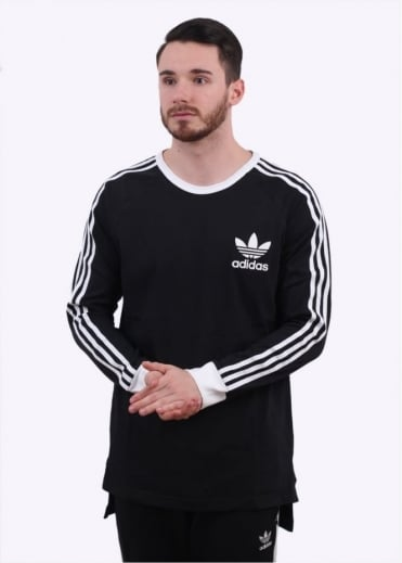 Adidas Originals Apparel Adicolour LS Tee - Black / White