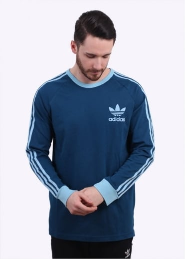 Adidas Originals Apparel Adicolour LS Tee - Shadow Blue / Sky Blue