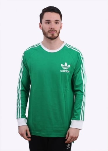 Adidas Originals Apparel Adicolour LS Tee - Green / White