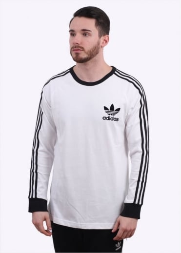 Adidas Originals Apparel Adicolour LS Tee - White / Black