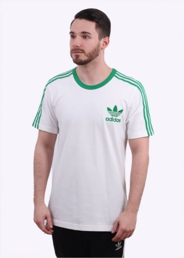 Adidas Originals Apparel Adicolour Fashion Tee - White / Green
