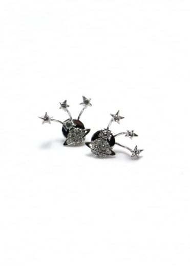 Vivienne Westwood Jewellery PIA Earrings Rhodium/Crystal