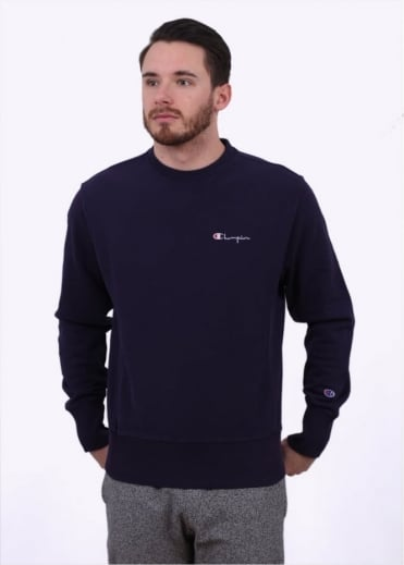 Champion Reverse Weave Classic Crew Sweater - Purple