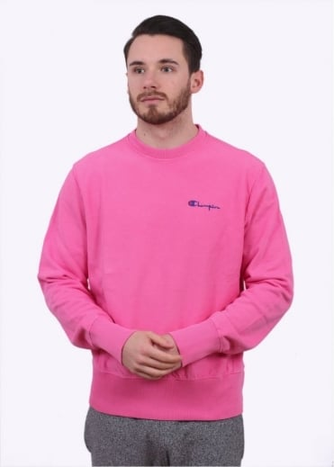Champion Reverse Weave Classic Crew Sweater - Pink