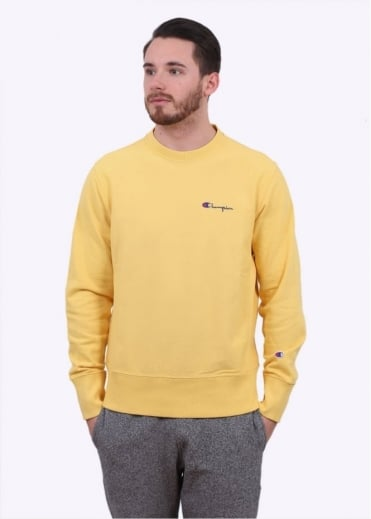 Champion Reverse Weave Classic Crew Sweater - Yellow