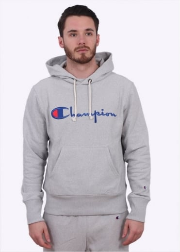 Champion Reverse Weave Hooded Sweater - Light Grey