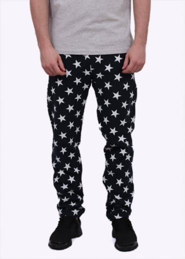Champion Reverse Weave Allover Star Print Pants - Navy Blue