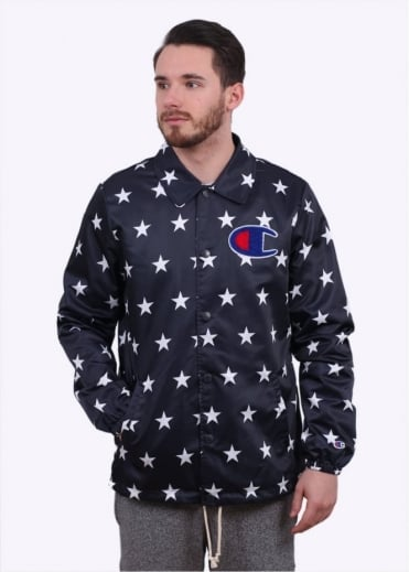 Champion Coach Jacket - Navy / Star Print