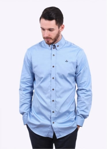 Vivienne Westwood Mens Two Button Krall Shirt - Blue