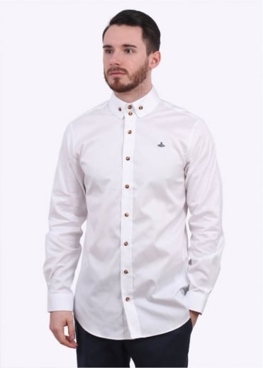 Vivienne Westwood Mens Two Button Krall Shirt - White