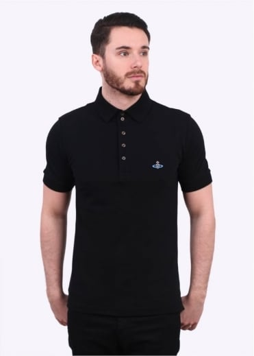 Vivienne Westwood Mens Basic Classic Polo Shirt - Black