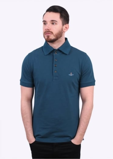 Vivienne Westwood Mens Basic Classic Polo Shirt - Green