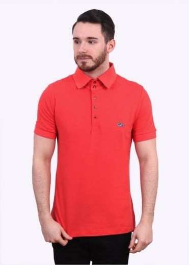 Vivienne Westwood Mens Basic Classic Polo Shirt - Red