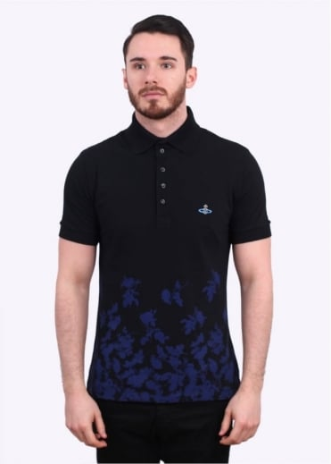 Vivienne Westwood Mens Absense Of Roses Polo Shirt - Navy