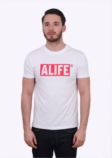 Alife Big Stuck Up Tee - White