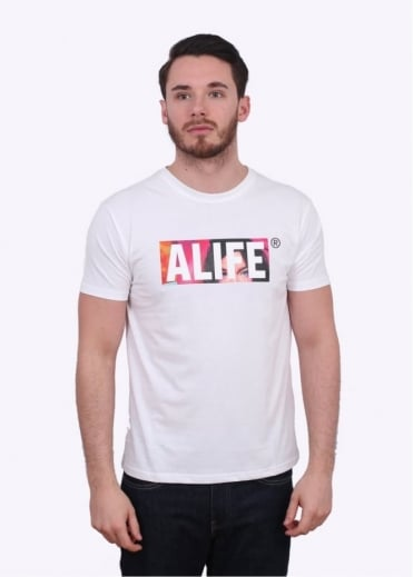 Alife Stuck Post Tee - White