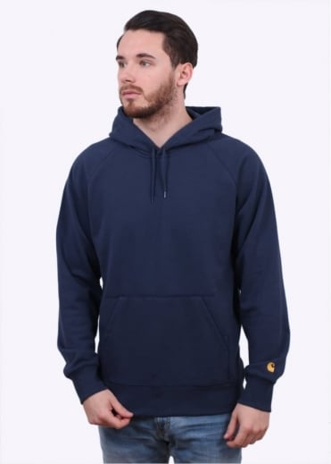 Carhartt Hooded Chase Sweater - Navy Blue