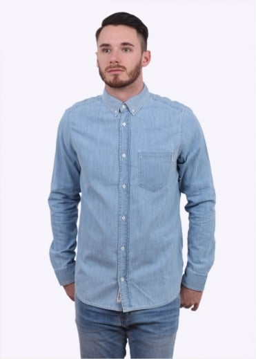 Carhartt LS Denim Civil Shirt - Blue Stonewashed