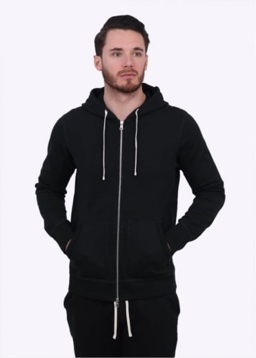 Reigning Champ Terry Full Zip Hoody - Black