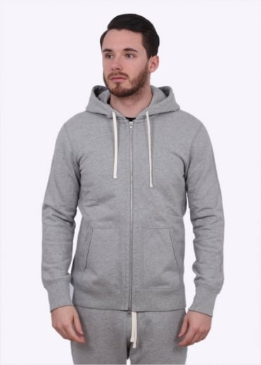 Reigning Champ Terry Full Zip Hoody - Heather Grey