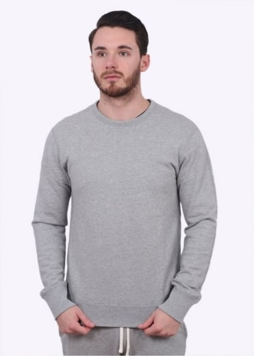 Reigning Champ Terry Crew Neck Sweater - Heather Grey
