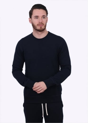 Reigning Champ Terry Crew Neck Sweater - Navy