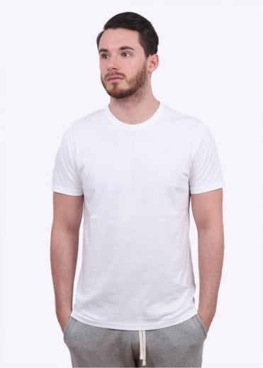 Reigning Champ SS Jersey Crew Tee - White
