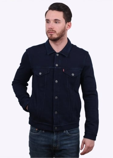Levi's Red Tab French Terry Trucker Jacket - Indigo