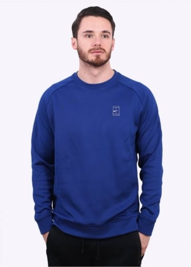 Nike Apparel NikeCourt Fleece Sweater - Deep Royal