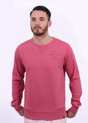 Parra Shot Through The Heart Sweater - Salmon Pink
