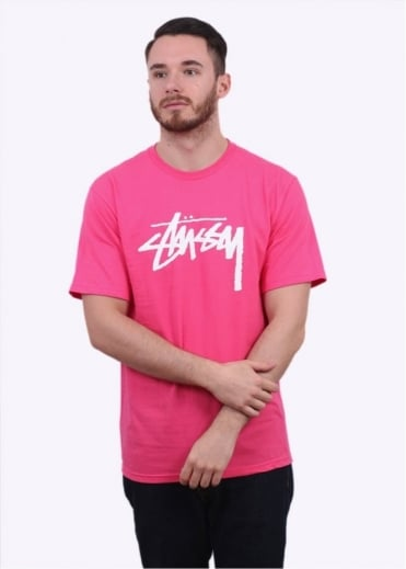 Stussy Stock Tee - Pink
