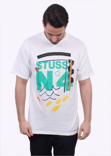 Stussy No4 Doodle Tee - White