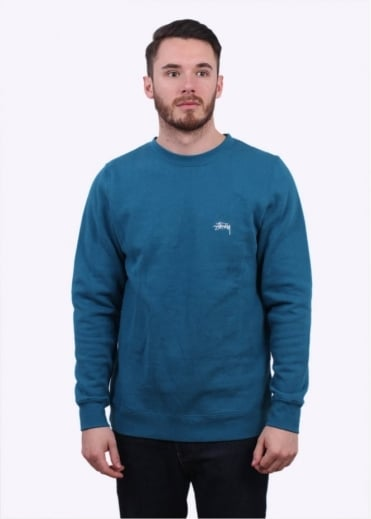 Stussy Back Arc Sweater - Blue