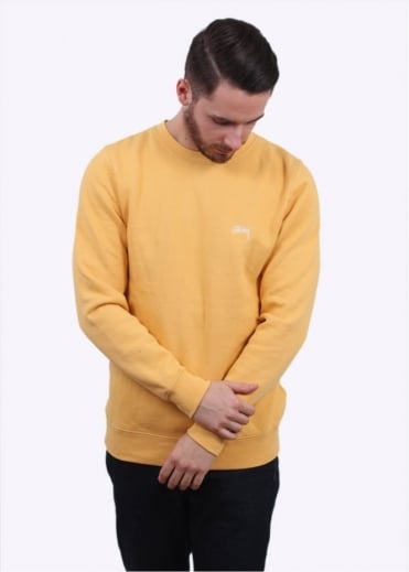 Stussy Back Arc Sweater - Faded Yellow