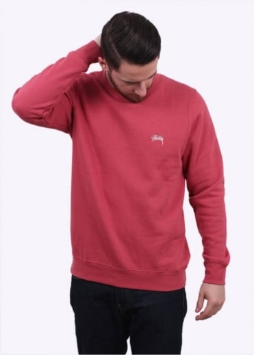 Stussy Back Arc Sweater - Salmon