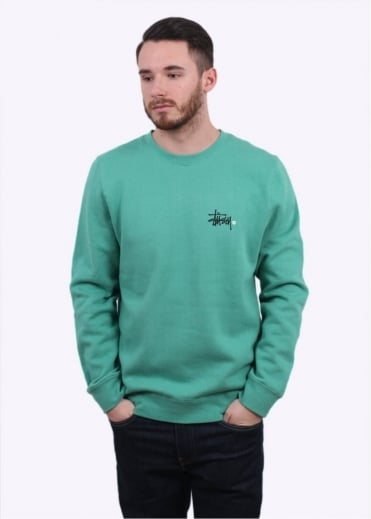 Stussy Basic Logo Sweater - Green