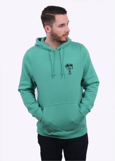 Stussy World Tour Hoody - Green