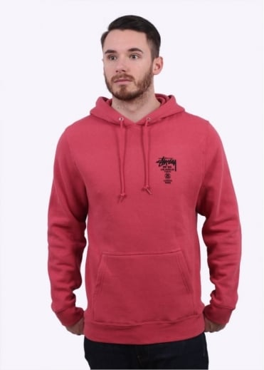 Stussy World Tour Hoody - Salmon