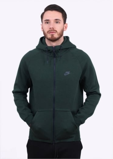 Nike Apparel Tech Fleece AW77 Hoodie - Green / Obsidian