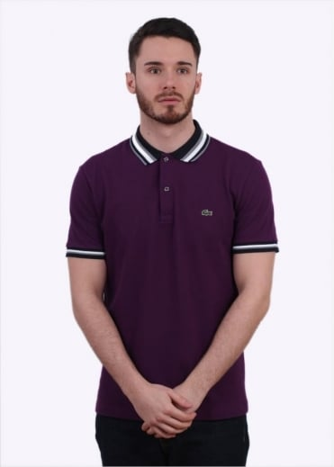 Lacoste SS Polo Shirt - Boheme Purple