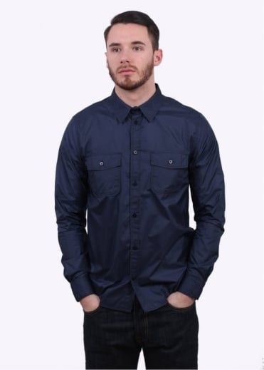 Norse Projects Hans Light Ripstop Shirt - Navy