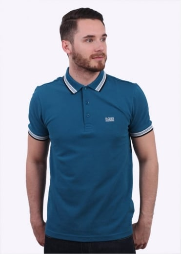 Hugo Boss Green Paddy Polo - Petrol Blue