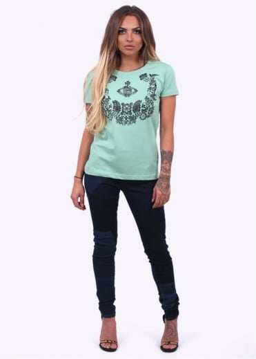 Vivienne Westwood Anglomania Floral Orb T-Shirt - Green