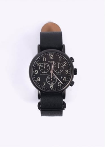 Timex Round IP Chrono Watch - Black