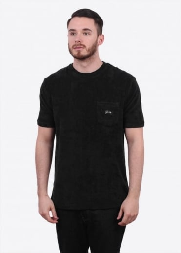 Stussy Terry Pocket Tee - Black