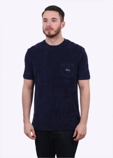 Stussy Terry Pocket Tee - Navy