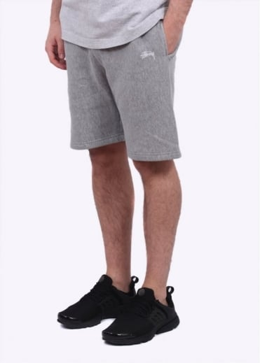 Stussy Stock Fleece Shorts - Grey
