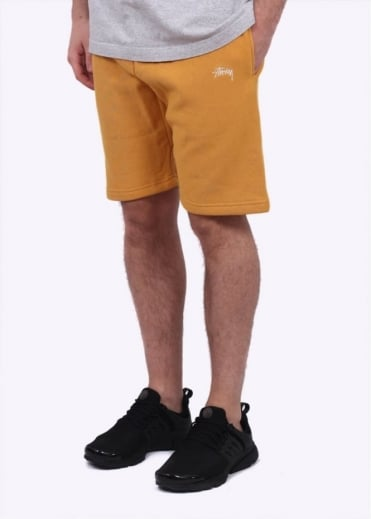 Stussy Stock Fleece Shorts - Mustard