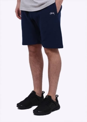 Stussy Stock Fleece Shorts - Navy