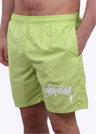 Stussy Stock Elastic Waist Shorts - Lime